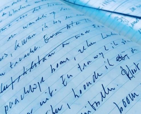 schrift handgeschreven tekst