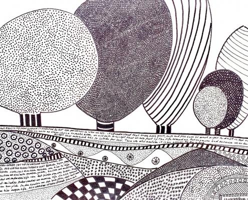 abstract landschap in zwart wit inspiratie home